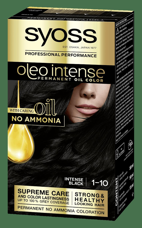 Боя за коса Syoss Oleo Intense Наситено черен 1-10 pack shot