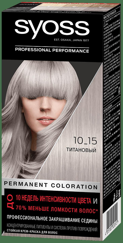 Стойкая крем-краска Syoss Титановый 10_15 shot pack