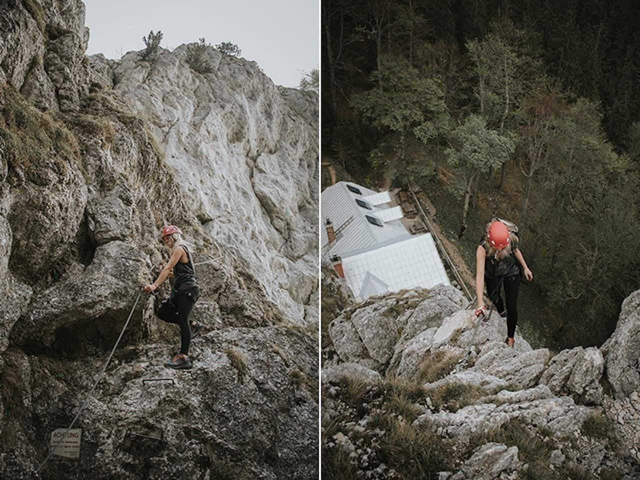 Berosagogreen am Klettersteig