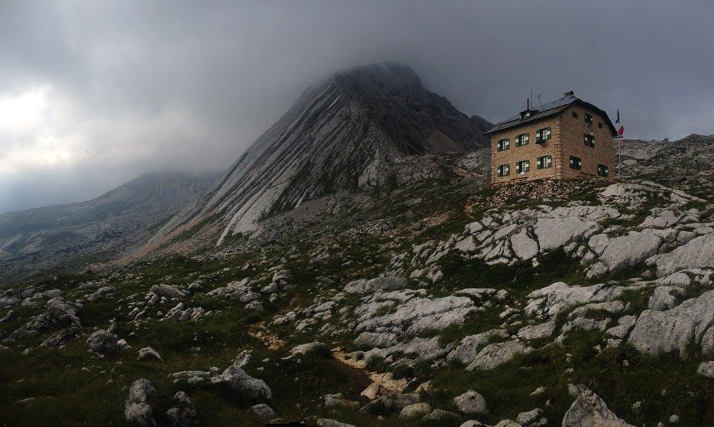 Dolomiten-Trekking-seekofelhütte