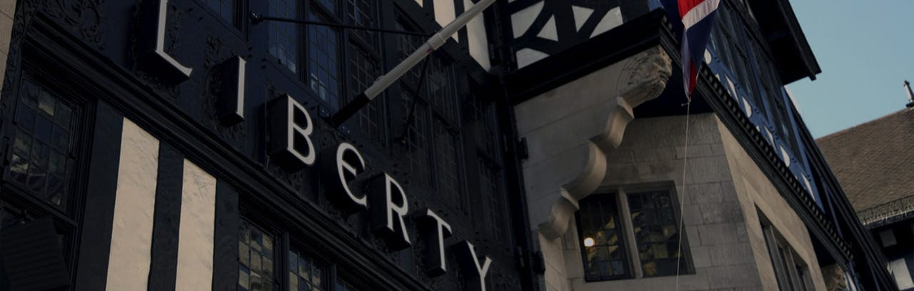 Liberty London front entrance sign