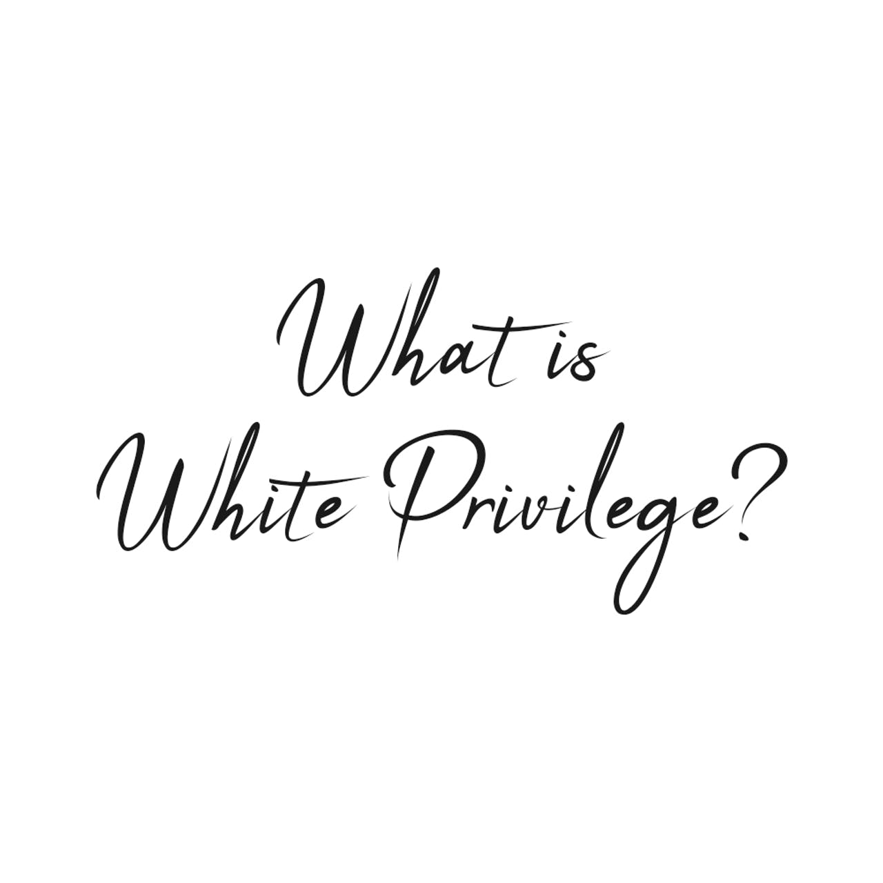 what is white privilege text
