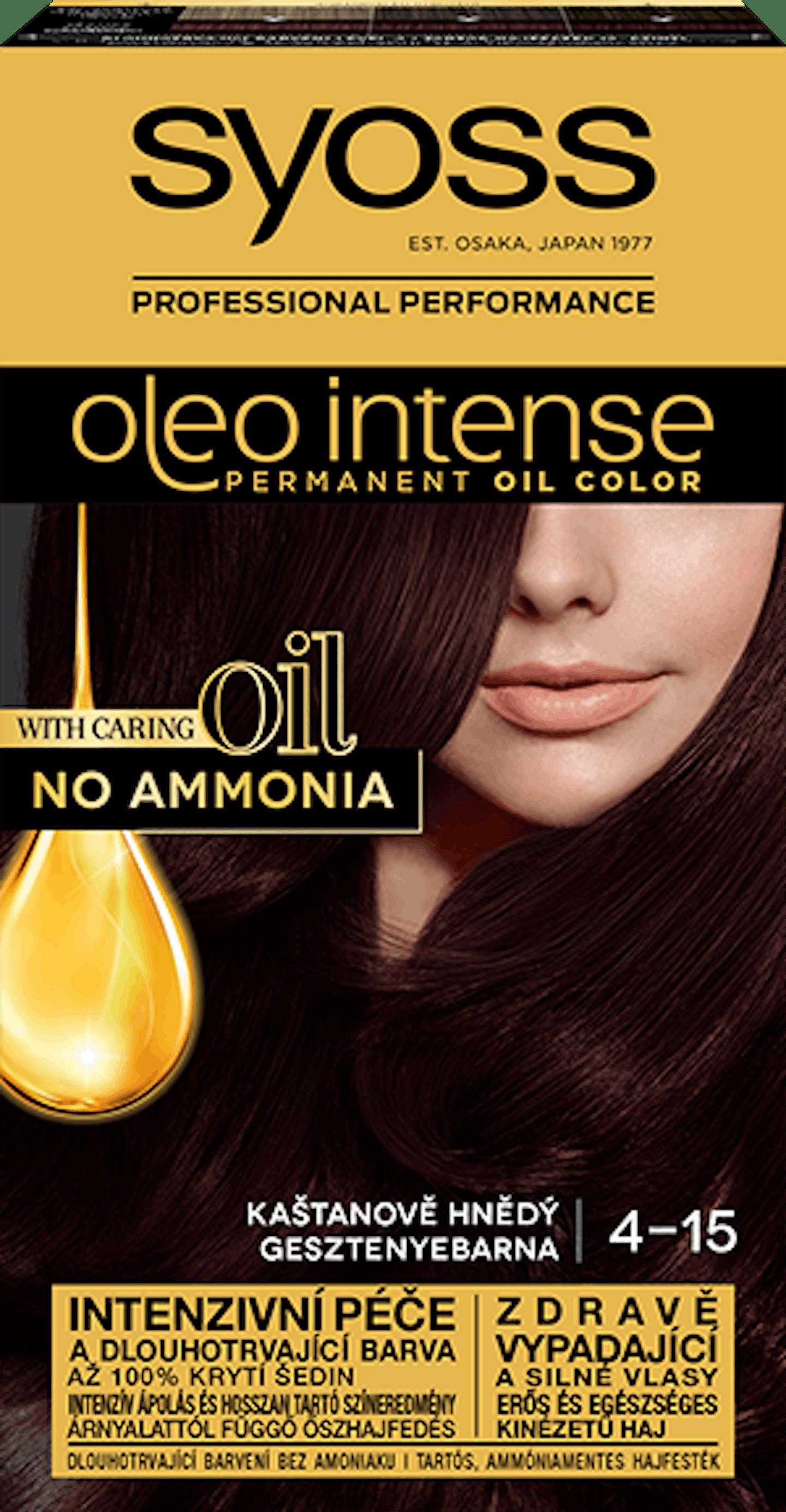 Trajna barva za lase Syoss Oleo Intense Chesnut brown 4-15