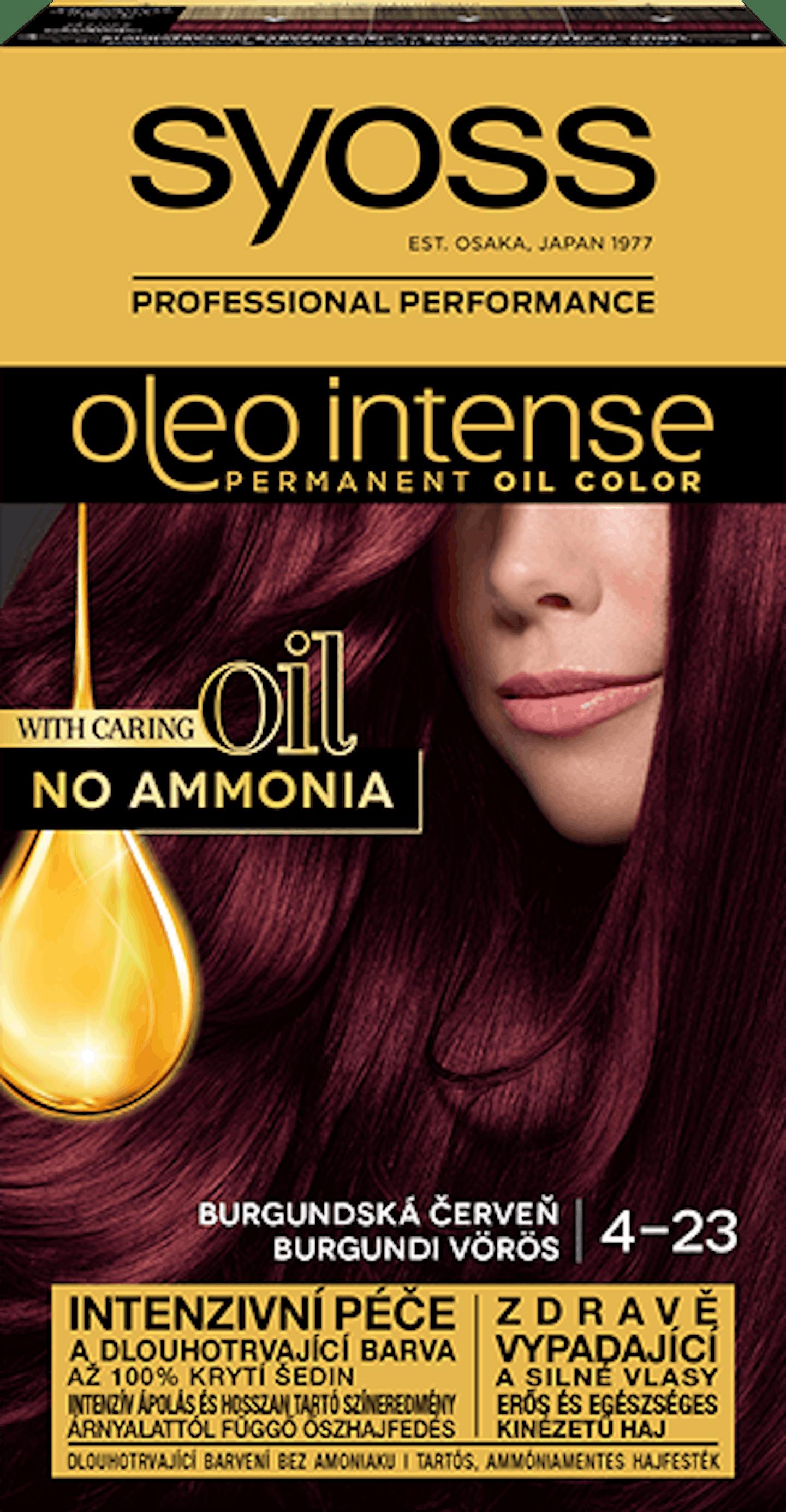 Oleo intense vopsea permanentă cu ulei - nuanta roșcat burgundy 4-23