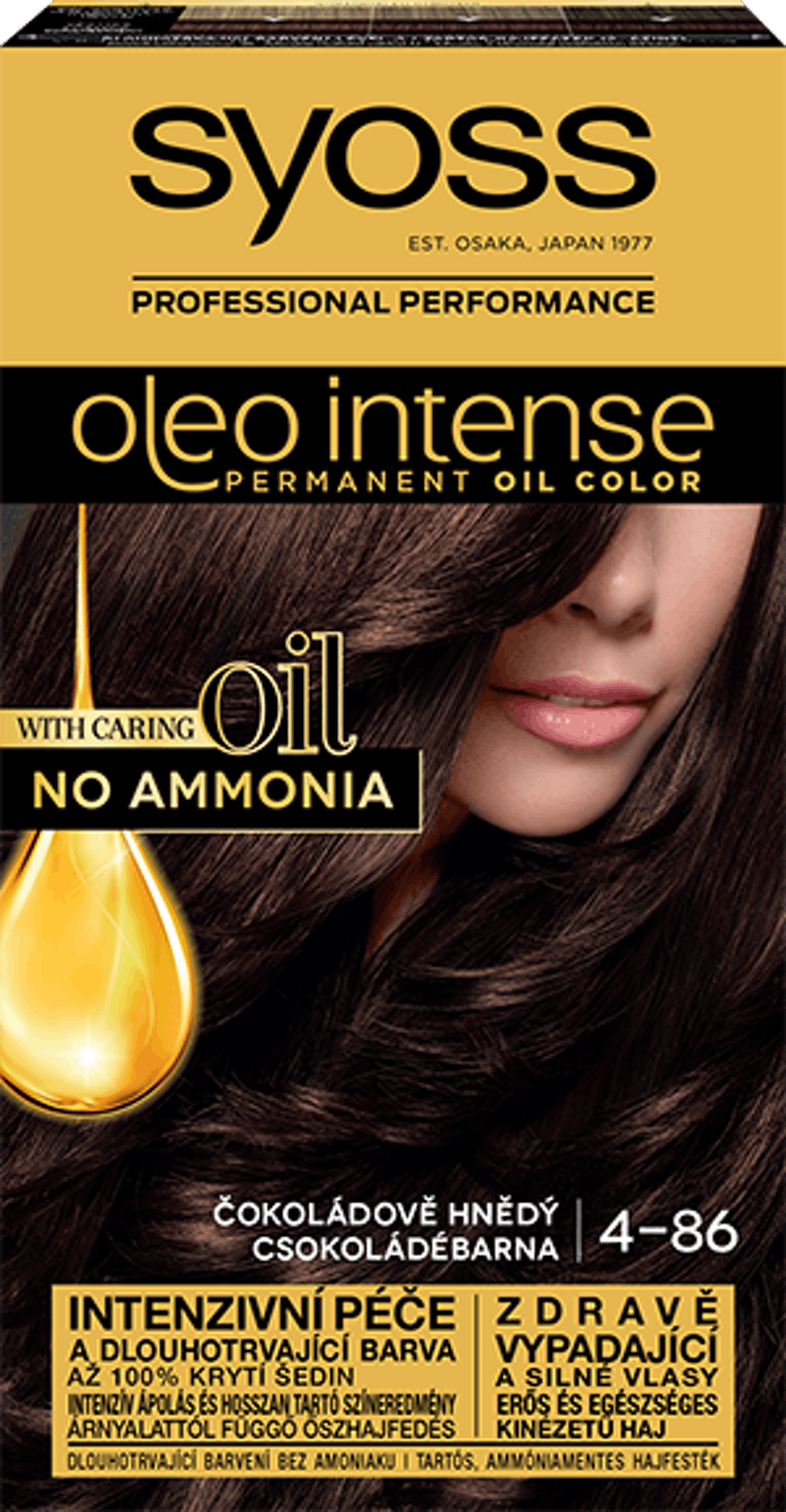 Oleo intense vopsea permanentă cu ulei - nuanta șaten ciocolatiu 4-86