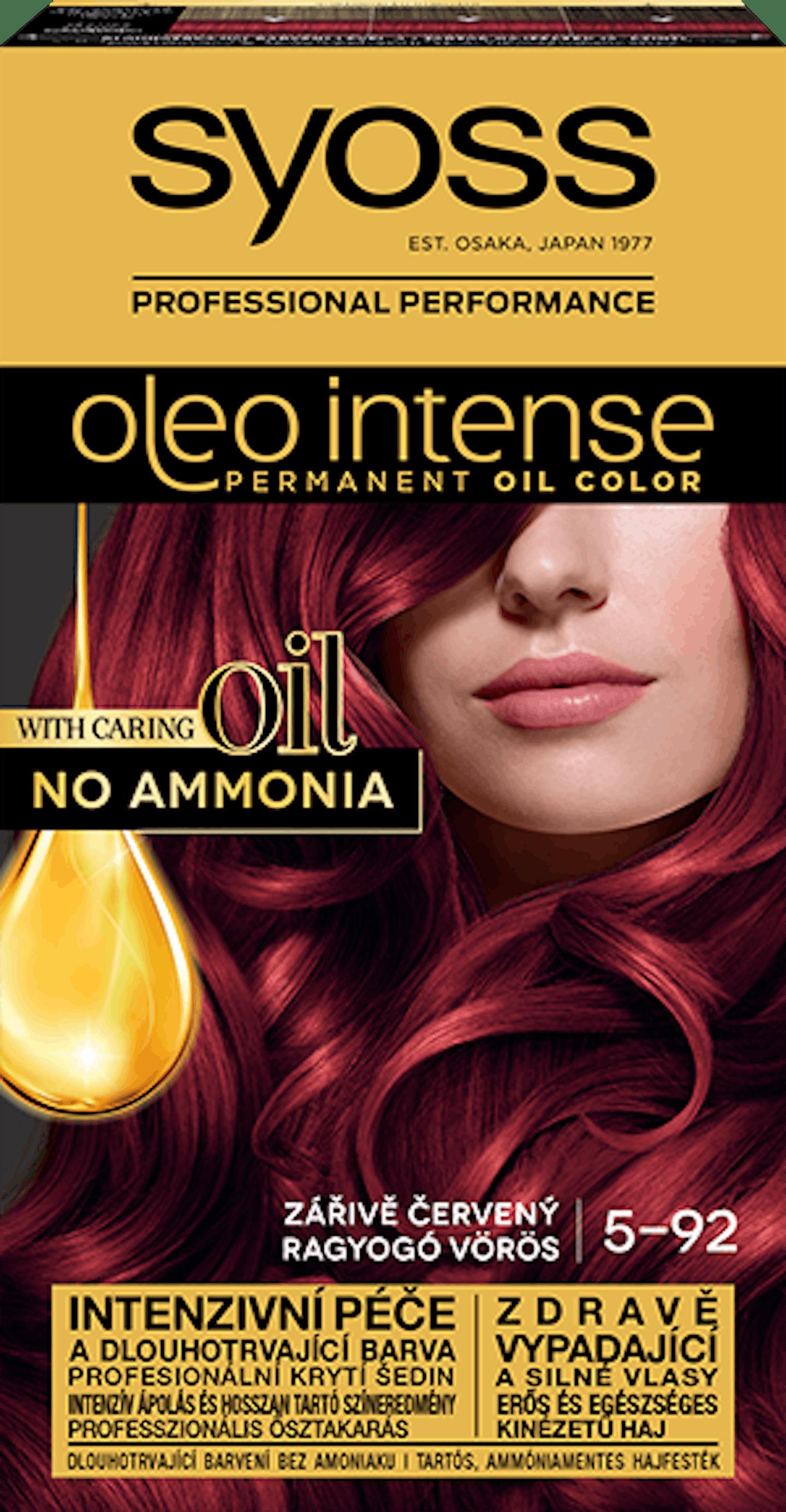 Oleo intense vopsea permanentă cu ulei - nuanta roșcat luminos 5-92