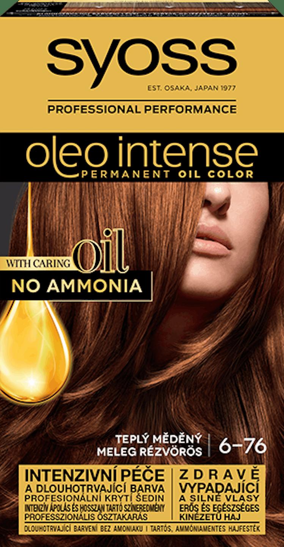 Trajna barva za lase Syoss Oleo Intense Toplo bakrena 6-76
