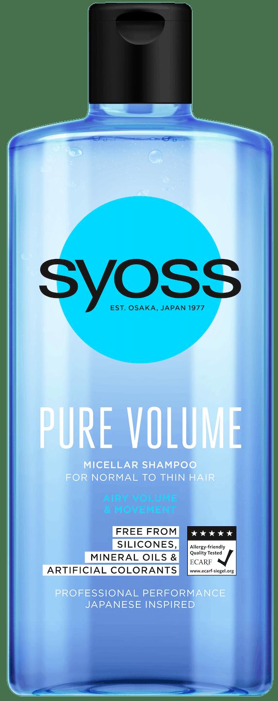 Syoss Pure Volume Шампоан pack shot