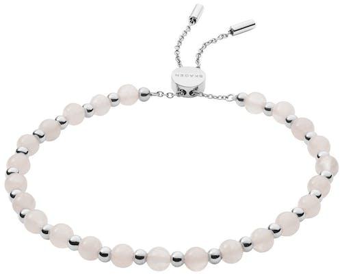Ce Bracelet SKAGEN est en Acier Gris et Quartz Rose