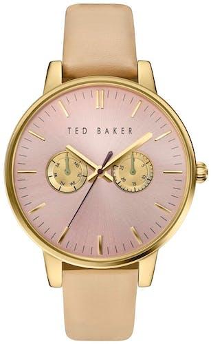Cette montre TED BAKER se compose d'un Boîtier Rond de 42x48mm et d'un bracelet en Cuir Blanc