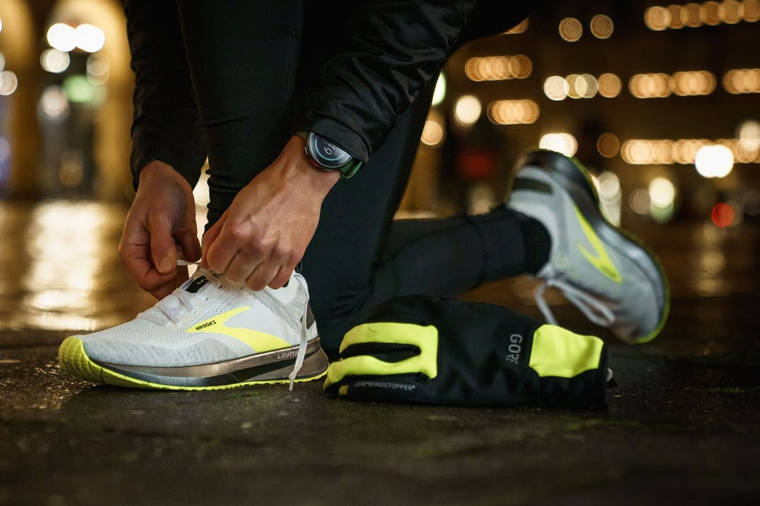 Schuhe zum Laufen im Dunkeln