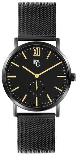 Cette montre B&G se compose d'un boîtier Rond de 40mm et d'un bracelet en Métal Noir
