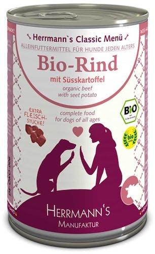 Herrmann's Nassfutter Bio-Rind mit Süßkartoffeln (getreidefrei)