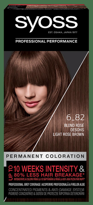 Vopsea de păr permanentă Syoss 6-82 Blond Rosé Deschis pack shot