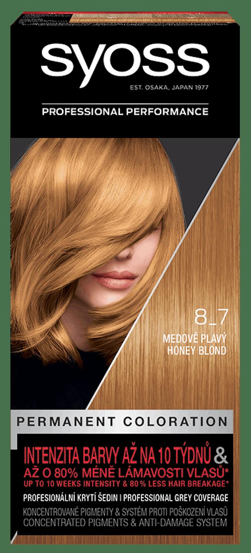 Vopsea de păr permanentă Syoss 8-7 Blond Miere pack shot