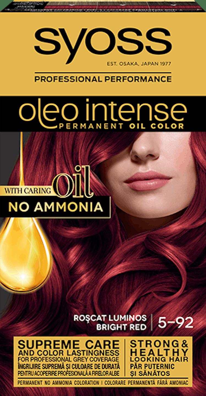 Syoss oleo intense vopsea permanentă cu ulei - nuanta roșcat luminos 5-92 pack shot