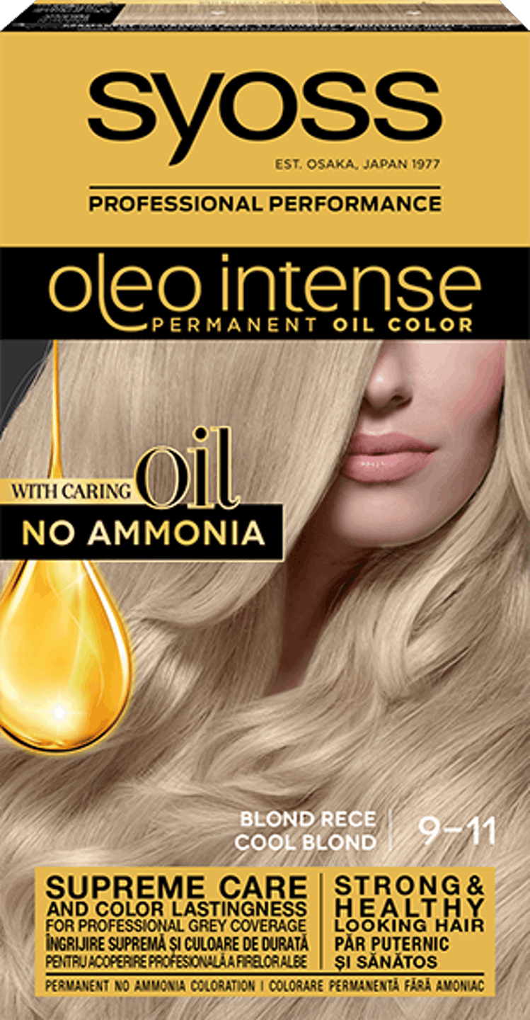 Syoss oleo intense decolorant cu ulei - nuanta blond rece 9-11 pack shot