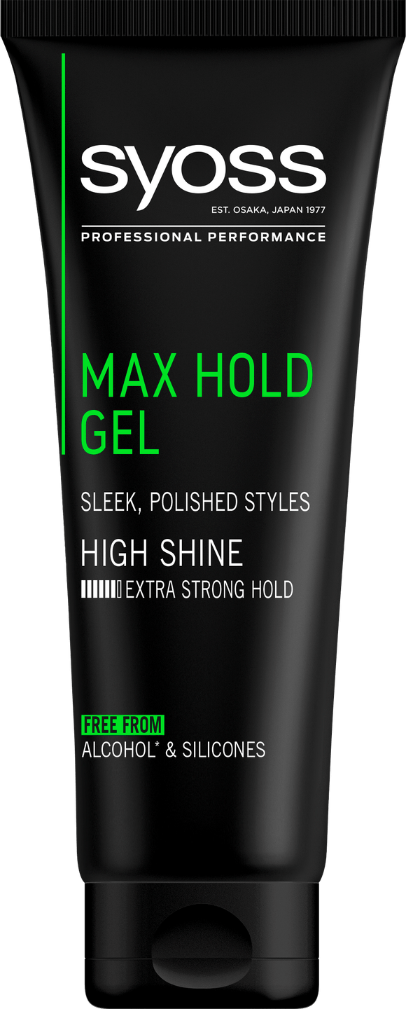 Syoss Max Hold gel pack shot