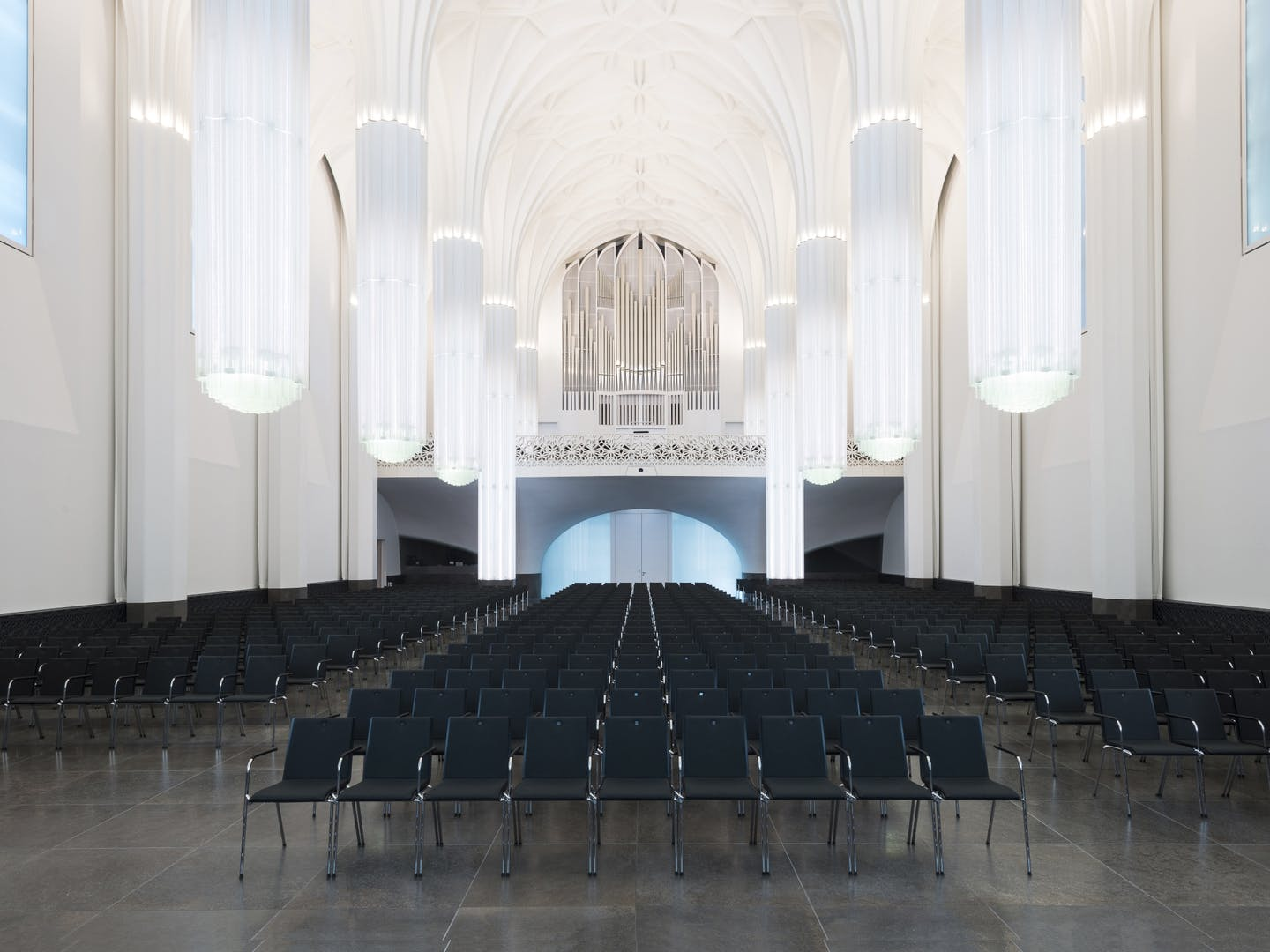 Event room with row seating
