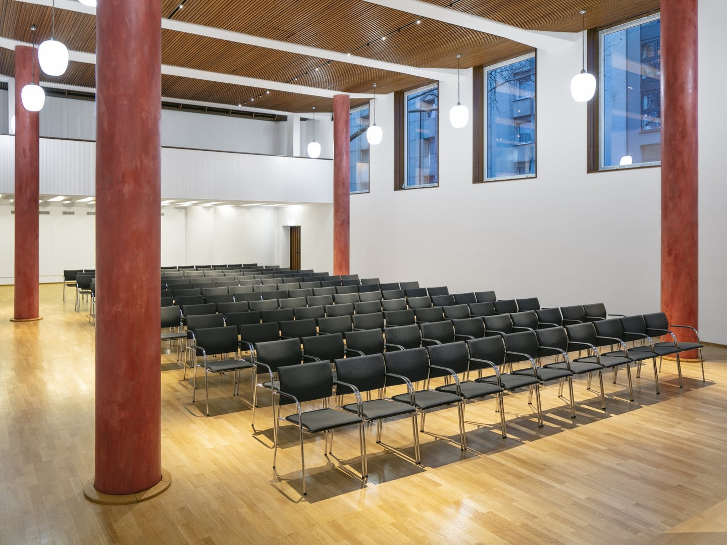 Hall with theatre seating