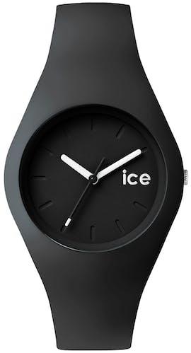 Montre ICE-WATCH OLA Mixte avec Boîtier Rond 43 mm et Bracelet en Silicone Noir