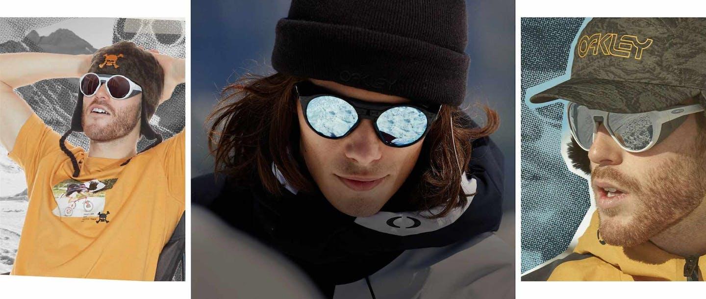 Collage di modelli che indossano occhiali
