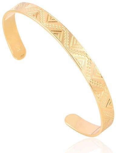 Ce bracelet Plaqué Or CLEOR aux formes géométriques vous fera craquer ! Ultra tendance et moderne on ne peut que l'adopter, et son prix aussi