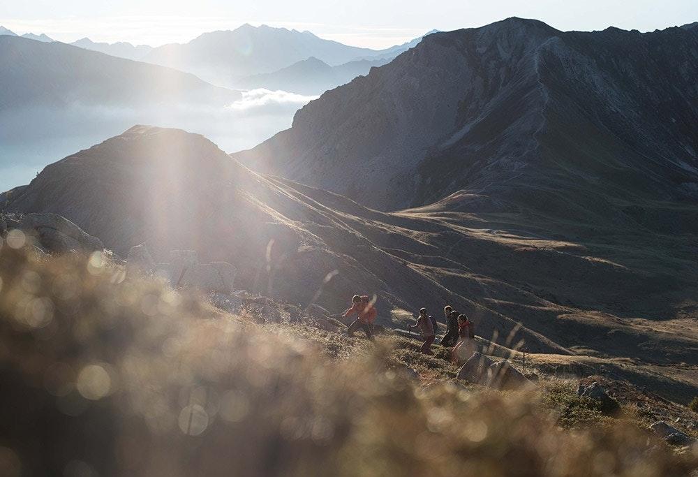 Bergpanorama bei einer Höhenwanderung