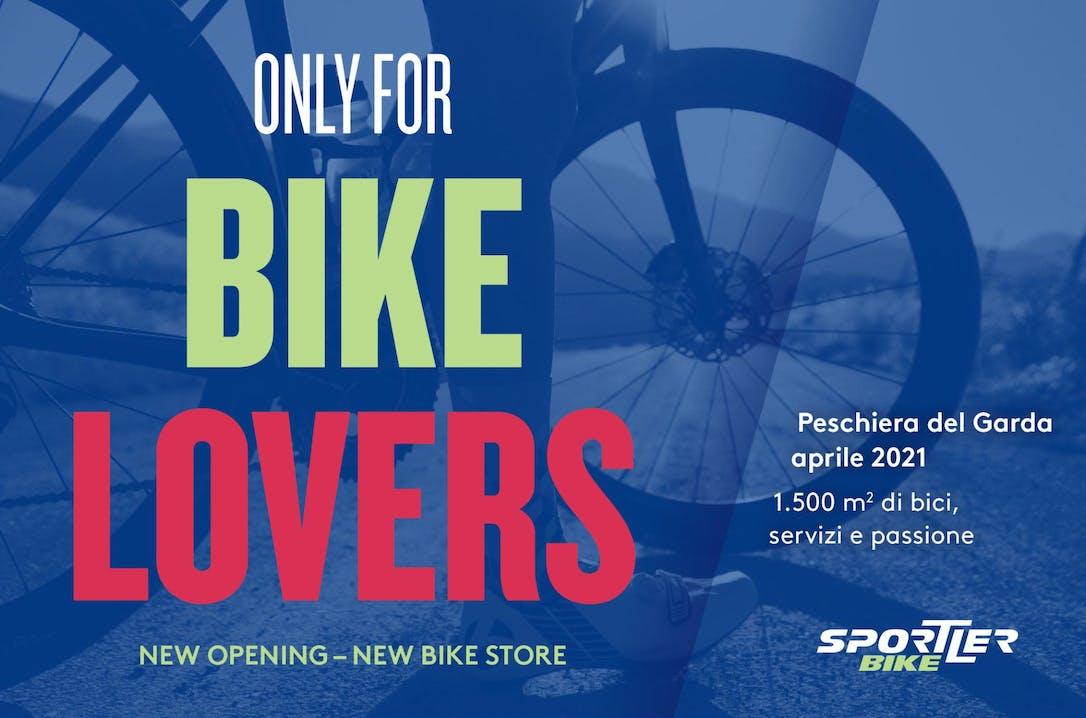 volantino nuova apertura del punto vendita Sportler Bike Store Peschiera