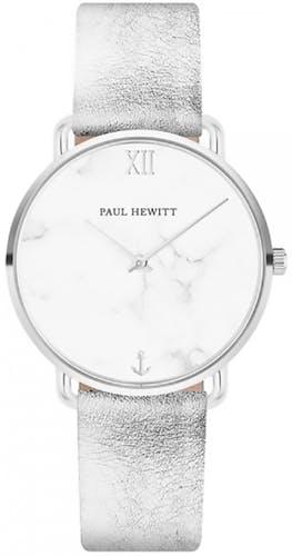 Cette montre PAUL HEWITT se compose d'un Boîtier Rond de 33 mm et d'un bracelet en Cuir Gris