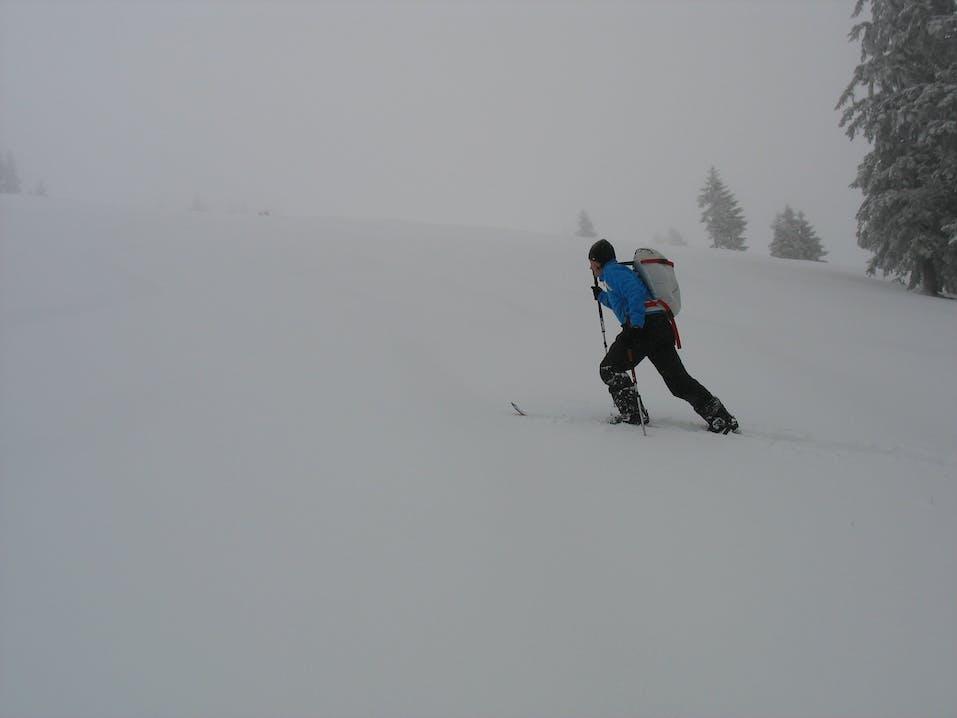 Skitour bei viel Schnee