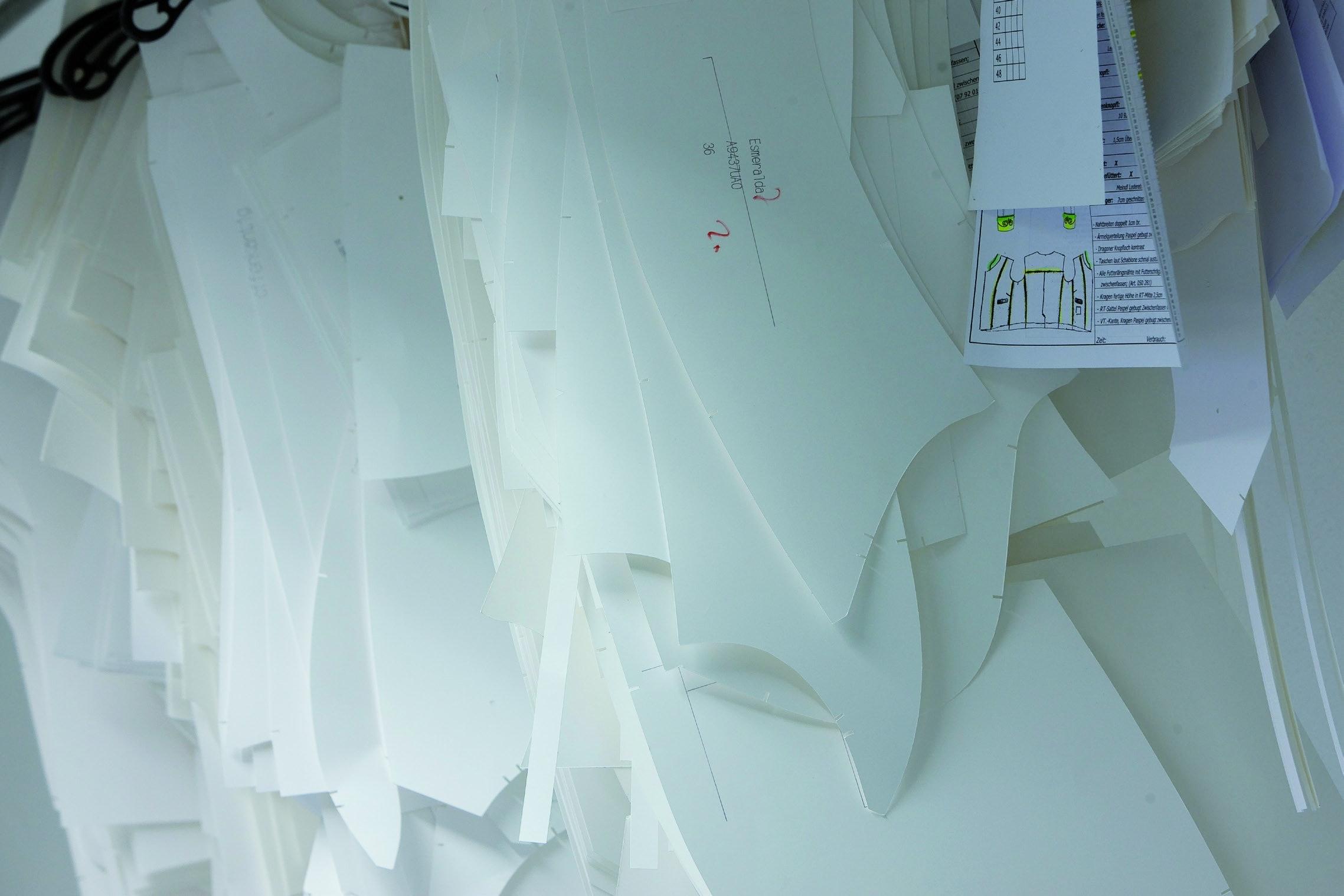 Zuschnitte der Lederhosen