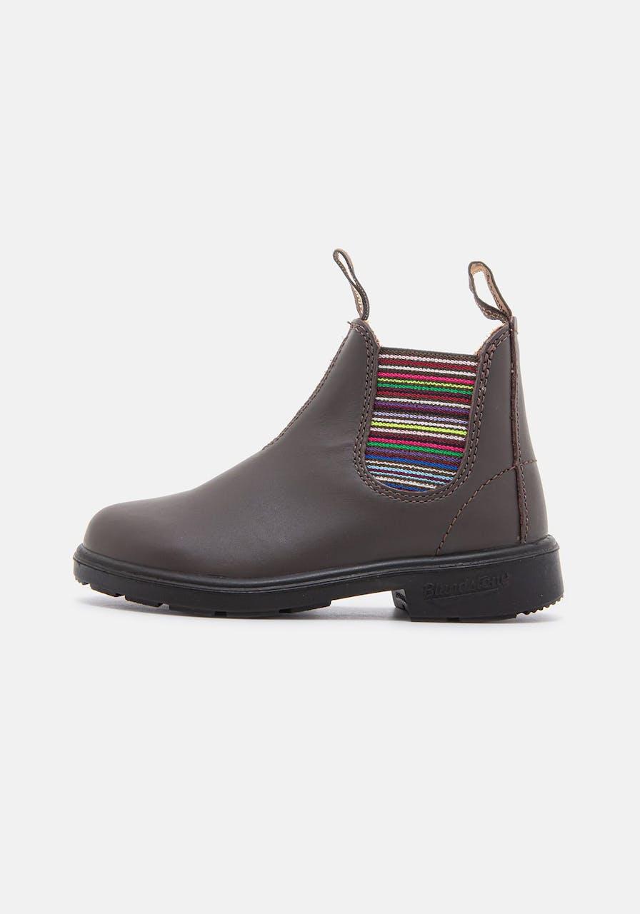 BLUNDSTONE 1413 Brown Stripes Leather with Strip El