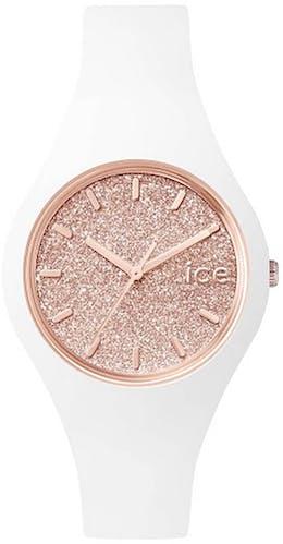 Montre ICE-WATCH Femme, Boîtier Rond, Bracelet Silicone Blanc