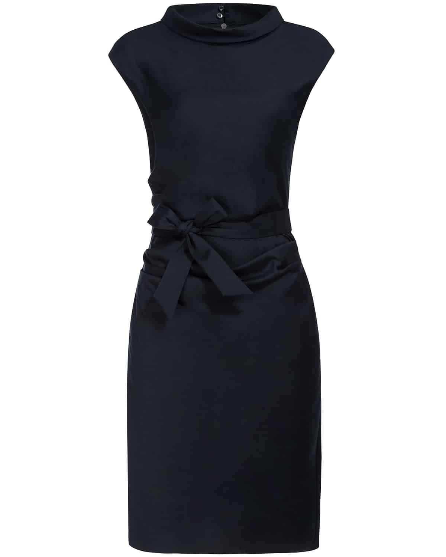 windsor., Kleid, Office Look, Officewear, Dress, Navy Blue, Dunkelblau, Bürokleid, Lodenfrey, Munich
