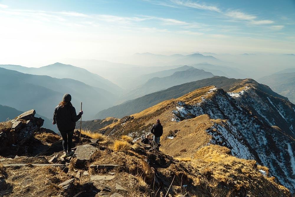 Bergwanderung mit Aussicht