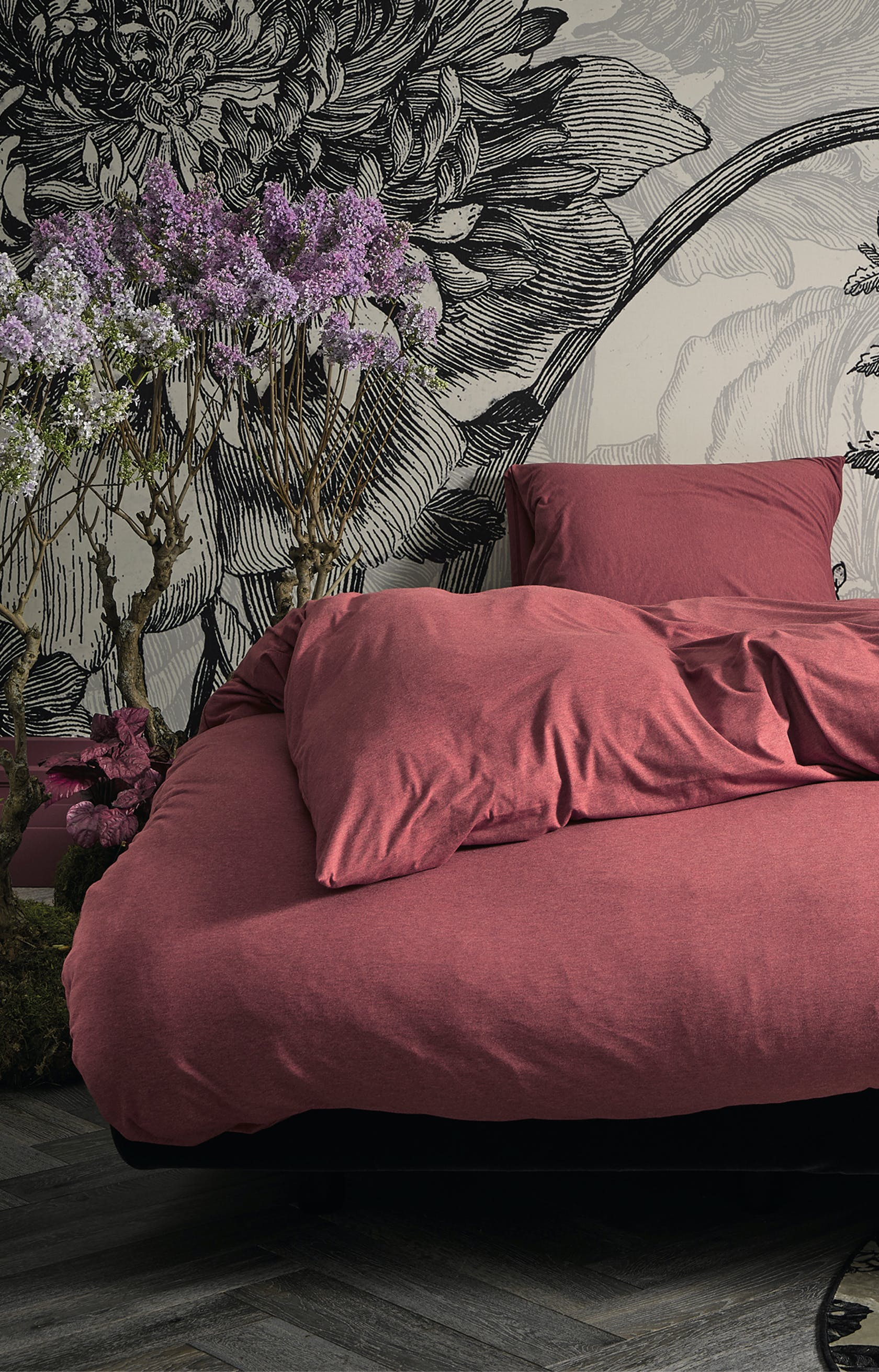 ESSENZA Otis Red Duvet Cover