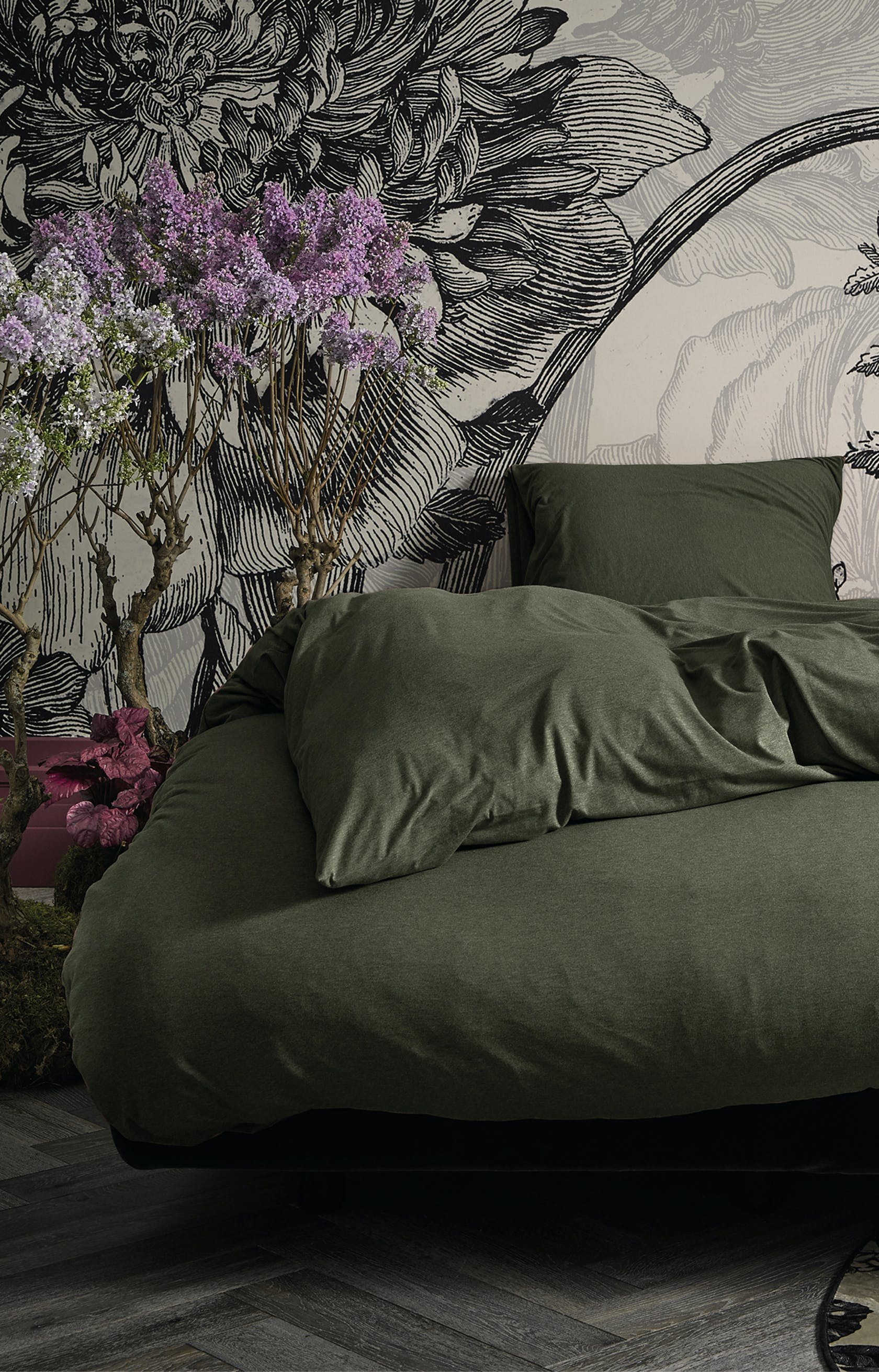 ESSENZA Otis Olive Duvet cover
