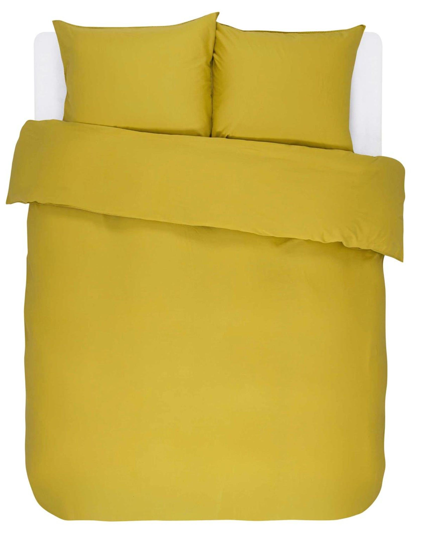 ESSENZA Minte Golden yellow Dekbedovertrekset 240 x 220 cm