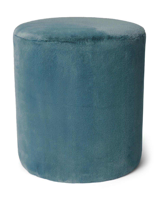 ESSENZA Furry Denim Blue Poef 40 x 40 x 43 cm