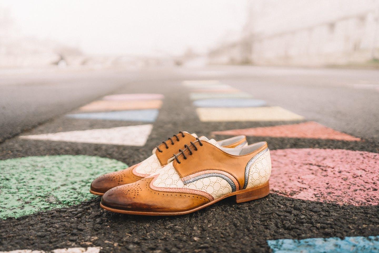 Budapest derby schoenen Sally Melvin & Hamilton