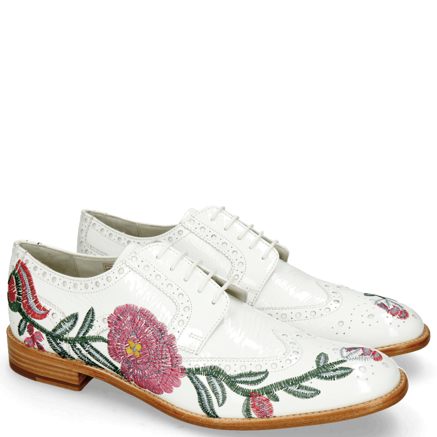 Eddy 38 Soft Patent White Embroidery Flowers
