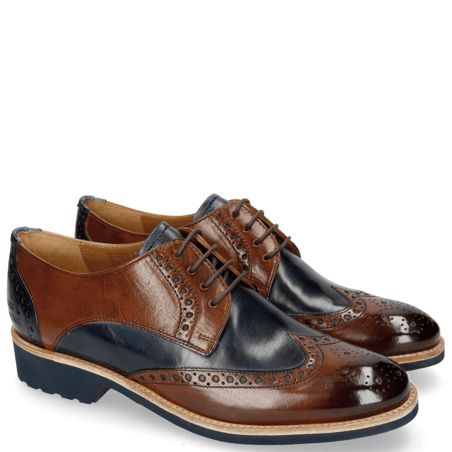 Amelie 3 Wood Navy