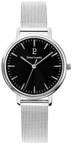 Cette montre PIERRE LANNIER se compose d'un Boîtier Rond de 33 mm et d'un bracelet en Acier Gris
