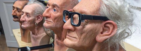 Hyperrealistische Plastik: Die Littleberlinheads sind echte Berliner Typen gefertigt aus Silikon - Künstlerin Lisa Büscher
