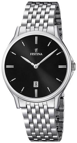 Cette montre FESTINA se compose d'un Boîtier Rond de 39 mm et d'un bracelet en Acier Gris