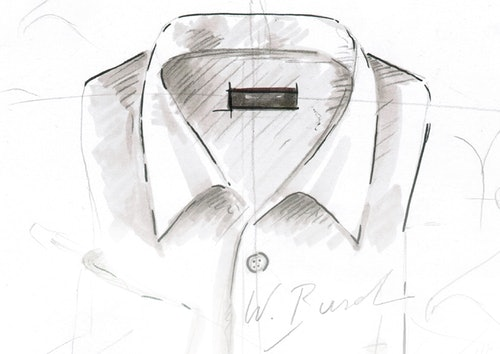 Skizze vom Hemdkragen