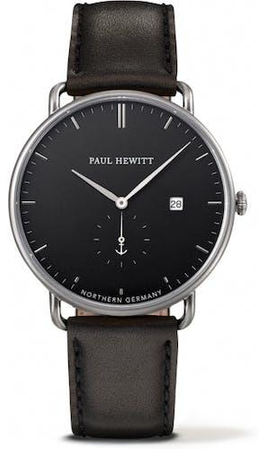 Cette montre PAUL HEWITT se compose d'un Boîtier de 42 mm et d'un bracelet en Cuir Noir