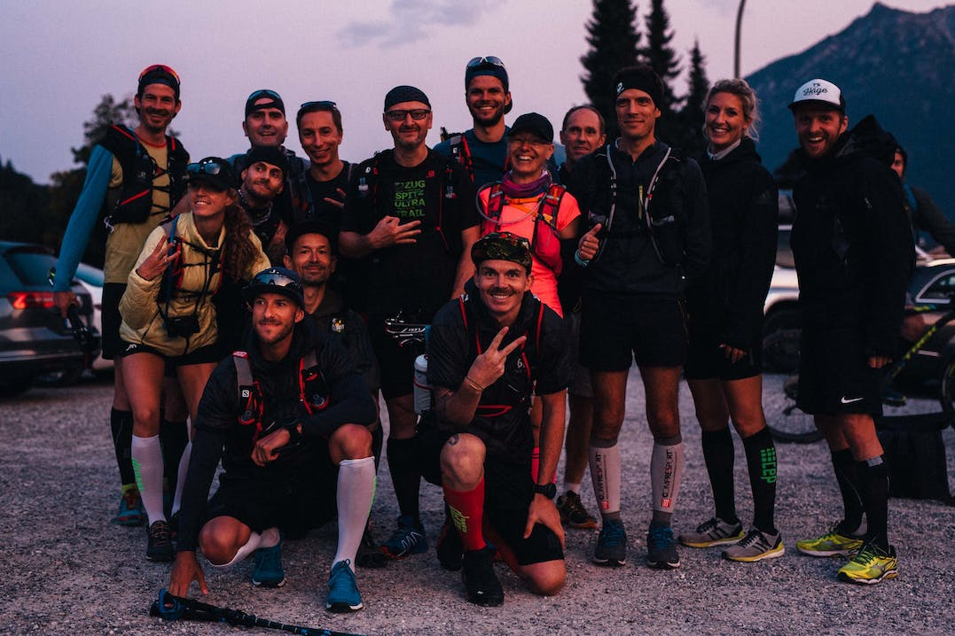 Runningcrew in Garmisch