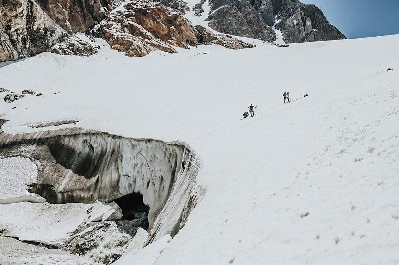 Bergung aus der Gletscherspalte beim Hochtourenkurs von Vivalpin